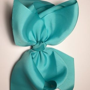 Turquoise 8 inch hair bow